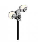 """Round Track Adjustable Trolley 7 1/2"""" Bolt Lawrence pair"""